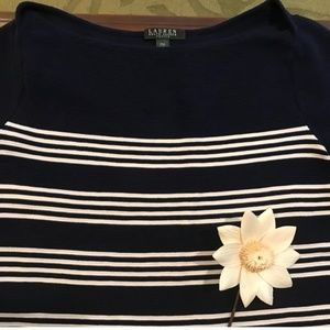 Ralph Lauren Nautical Navy/White Capsleeve Sweater